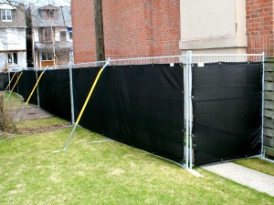 6 Foot Temporary Fence with Liner and Braces